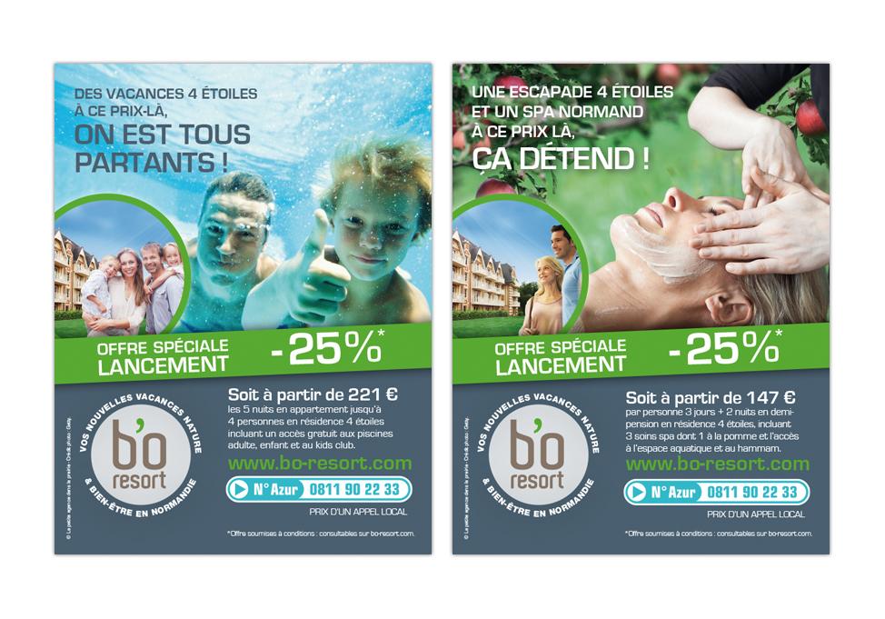 Agence Place des Victoires Communication - BO Resort - annonces presse