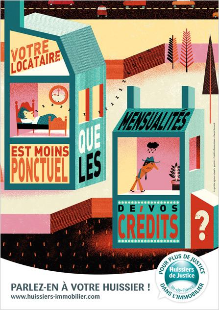Agence Place des Victoires communication - Huissiers de Justice - Campagne immobilier - publicité - annonce bail