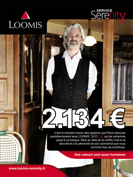 Place des Victoires communication - Loomis - Publicité Serenity - Affiche PLV Brasserie