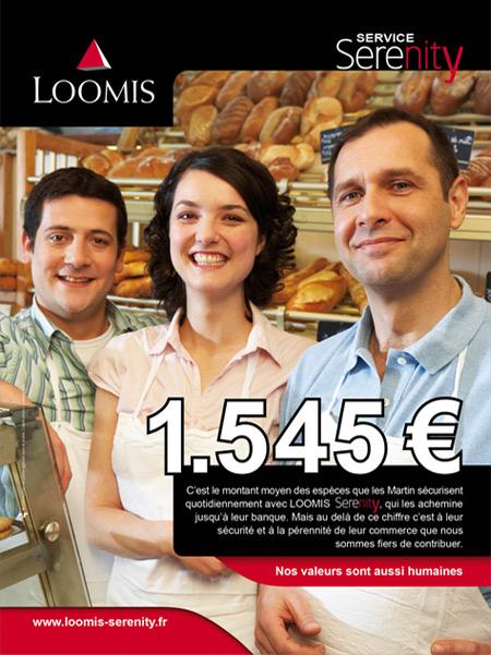 Agence Place des Victoires communication - Loomis - Publicité Serenity - Affiche PLV boulanger