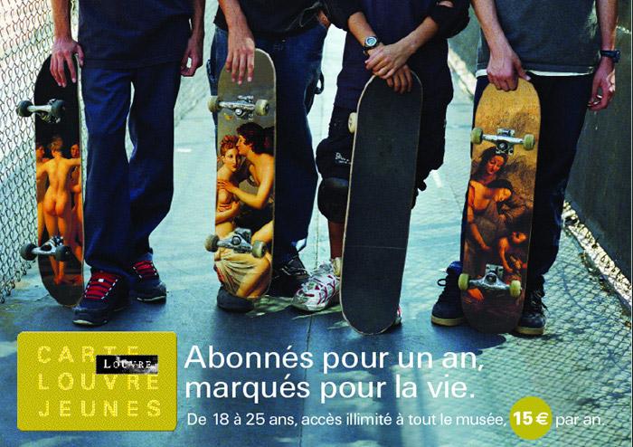 MUSEE DU LOUVRE – Promotion de la Carte Jeunes.