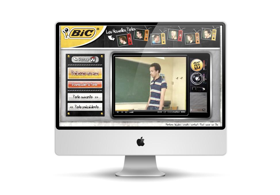 BIC – Promotion de la gamme stylos.