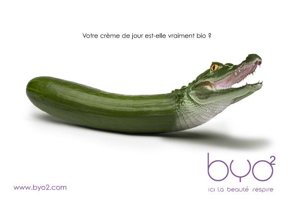 Agence Place des Victoires Communication - BYO2 - publicité - visuel concombre
