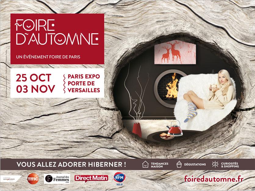 Agence Place des Victoires Communication - Foire d'Automne - Publicité affiche