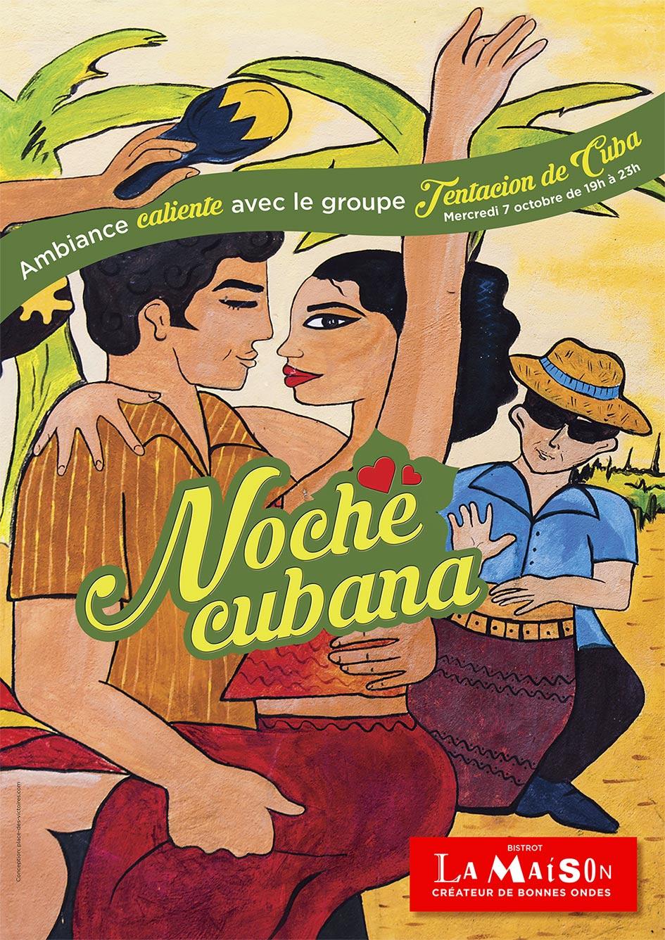 Place des Victoires Communication - Bistrot La Maison - PLV Affiche salsa
