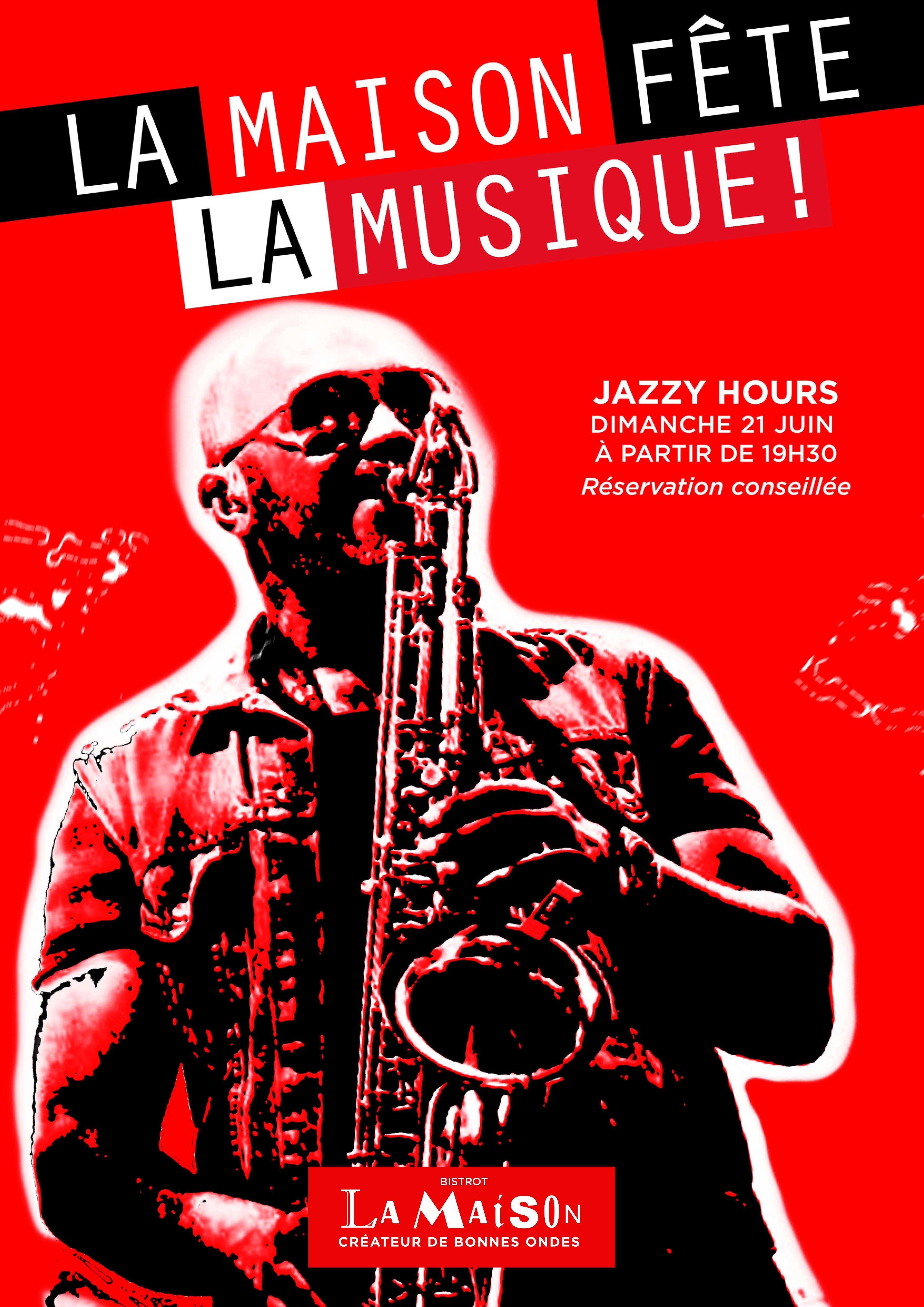 Place des Victoires Communication - Bistrot La Maison - PLV Affiche jazz
