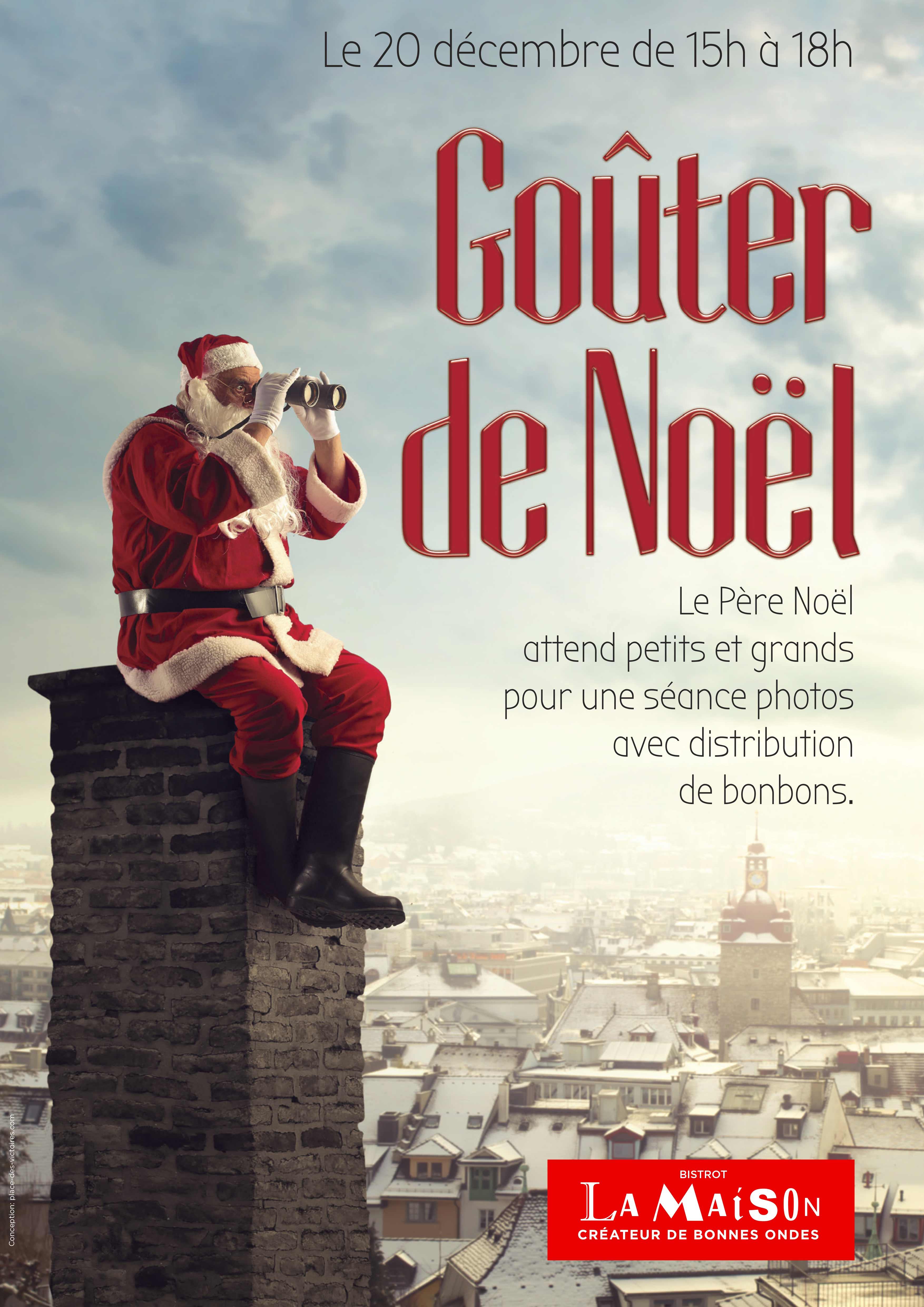 Place des Victoires Communication - Bistrot La Maison - PLV Affiche Noël