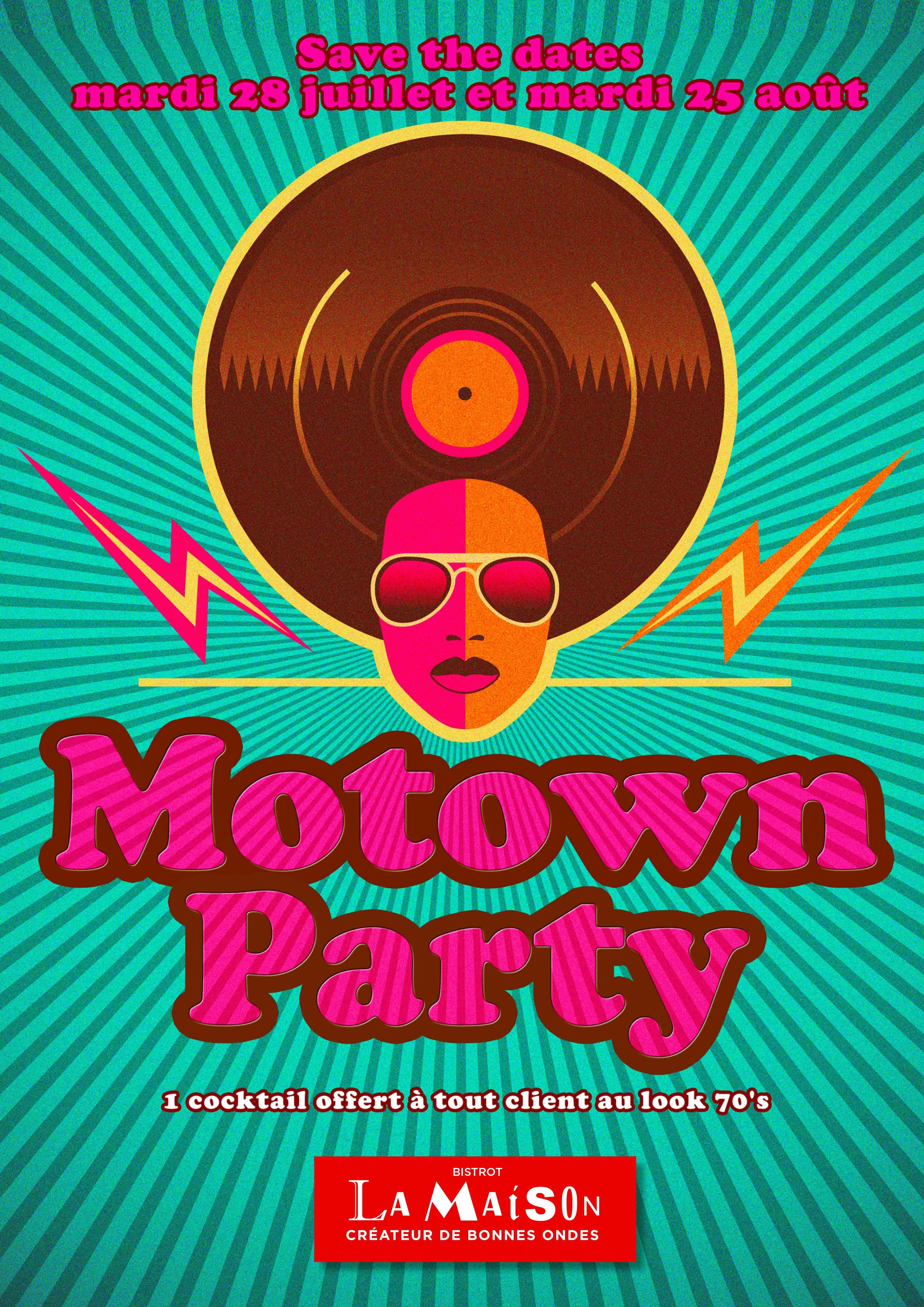 Place des Victoires Communication - Bistrot La Maison - PLV Affiche Motown