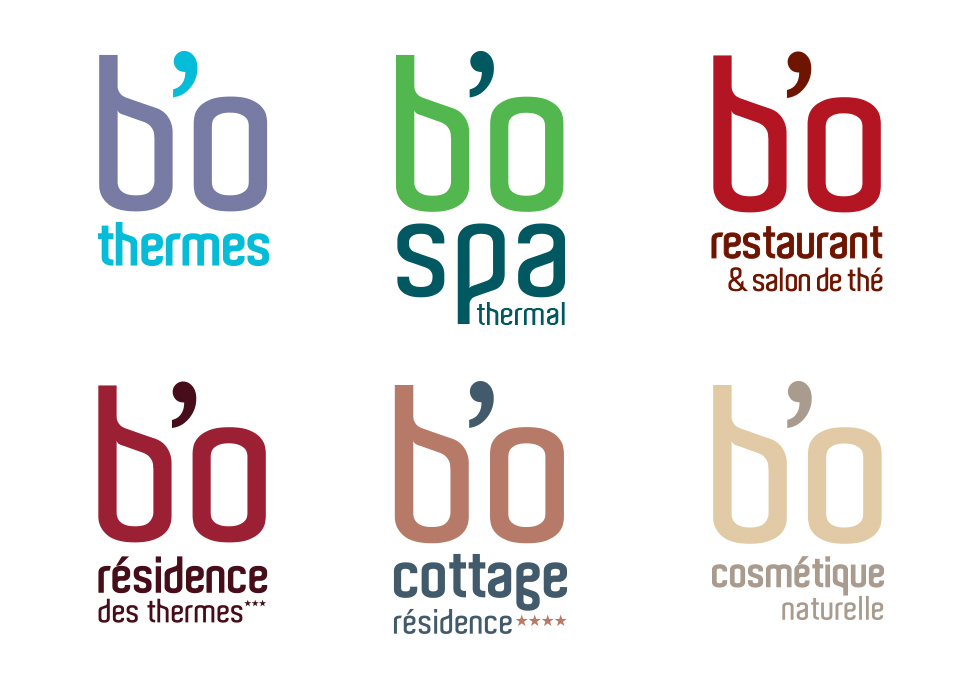 Agence Place des Victoires Communication - Bo Resort - logos gamme