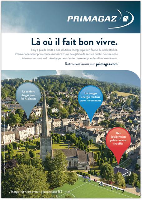 Place des Victoires Communication - Primagaz- Publicité corporate - annonce presse