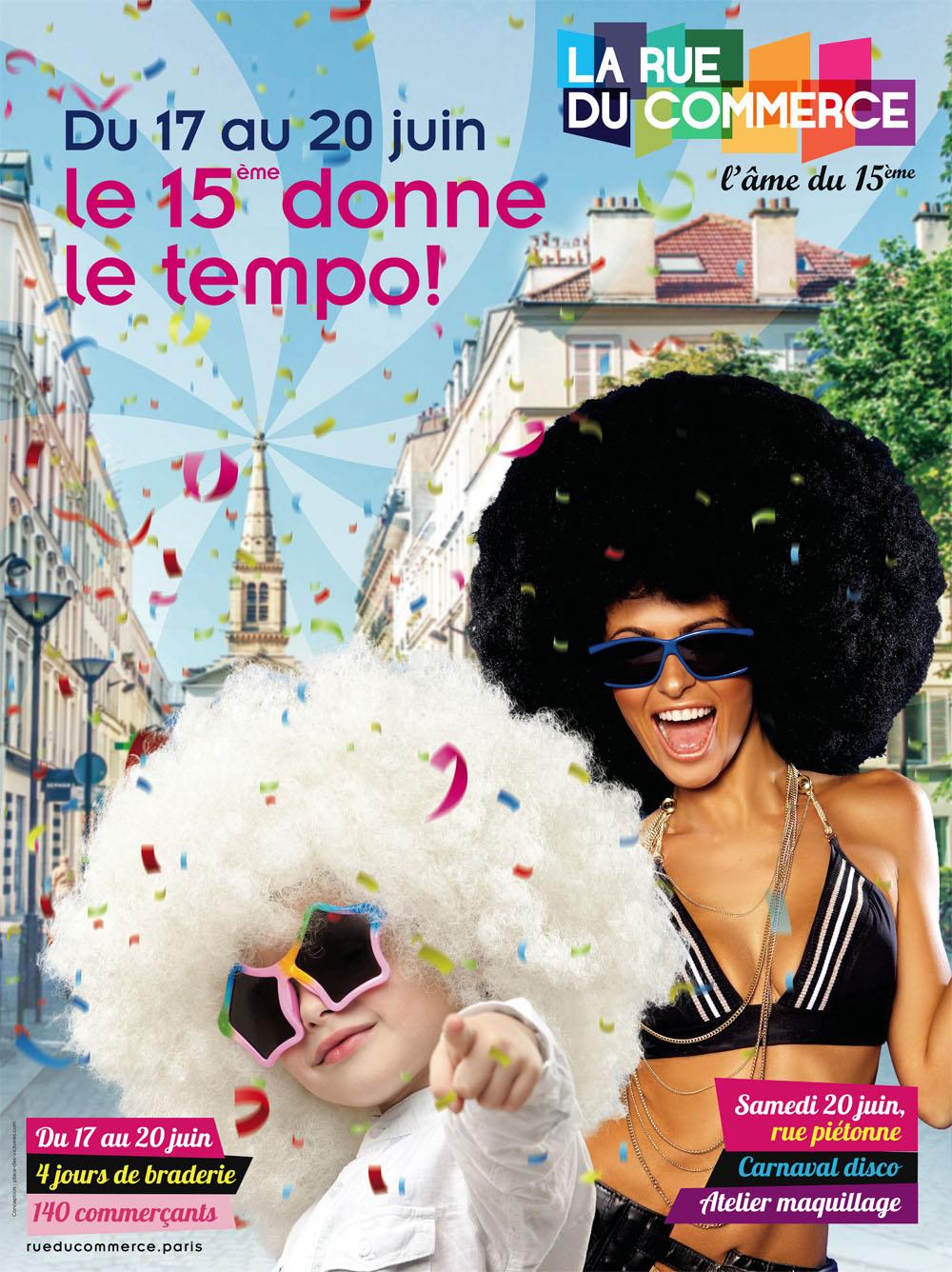 Place des Victoires Communication - Rue du Commerce - Publicité affiche carnaval