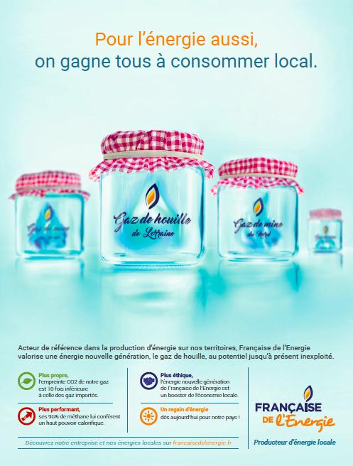 Agence Place des Victoires pour Française de l'Energie - Publicité corporate presse