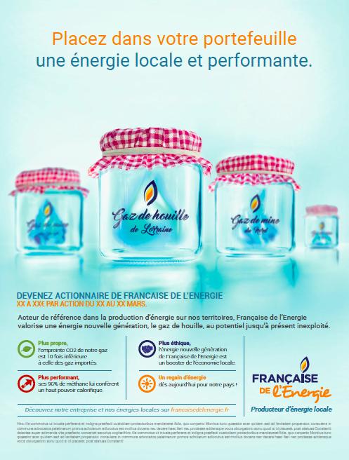 Place des Victoires pour Française De l'Energie - Campagne financière presse