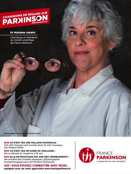 France Parkinson Publicité Presse Annonce Marianne Amalric